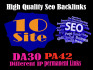 give you 10 Website Permanent Backlink DA30 with differen IP