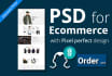 design awesome PSD template for website