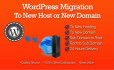 migrate WordPress site to a new server or domain 24 hours