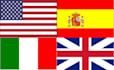 translate 1000 words between English, Italian and Spanish