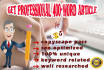 write  2 PROFESSIONAL 400 word articles