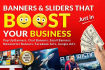 make Banners and Sliders that BOOST your business