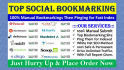 do Manually 30 Social Bookmarking to Your Website, Product, YouTube or Anything