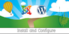 install and configure wordpress or joomla for you