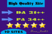 give you 10 sites, DA 21 permanent blogroll
