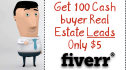give you up to 100 cash buyer leads anywhere in the US