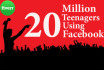 do VIRAL promotion among 20 million Teenager using Facebook