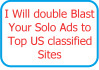 double Blast Your Solo Ads to Top US classified Sites