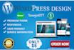 create fresh wordpress site