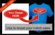 add your logo or design to a shirt for a sales photo