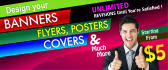 design a CREATIVE banner and banner ads