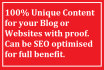 write profitable Blog content
