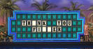 write a message on the Wheel of Fortune sign