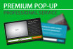 create a professional popup for your website