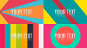create 7 colorful Youtube Intros for same price