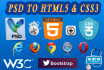 convert PSD to Html5 and Css3