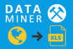 do Data Mining from websites,  pdf, csv, Excel