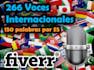 ofrecerle 266 voces internacionales
