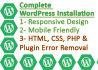 install WordPress or Resolve Your WordPress Issue