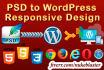 convert PSD to WordPress Responsive