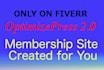 create a membership site using op 2