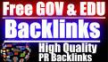 send High Quality 500 Edu, Gov Backlinks To Your URL with PR9 to PR7