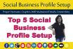 top 5 Social Business Profile Setup