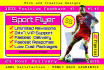 design Professional Sport Flyer with Free pdf,psd files