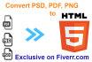 convert psd,pdf,png to HTML