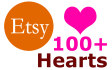 100 Hearts Your Etsy shop to grow Sales