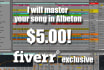 master your song in Ableton
