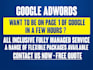 create Google Adwords campaign for the 1st page