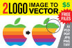 convert 2 LOGO image to Vector in 24 hours