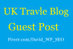 do Guest Post in UK Travel Blog