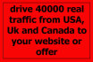 drive 40000 Genuine traffic from USA,Canada to your website