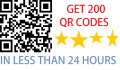 create 200 qr codes in less than 24 HOURS
