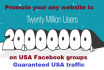 advertise to USA 20 Million facebook group members for your any website
