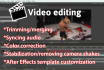 edit your video professionally and deliver within 24 hours