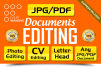 edit Scanned JPG Pdf Documents Quickly