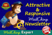 design Attractive Mailchimp Email Template Newsletter