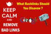 identify nd remove bad links of your site to recover penalty