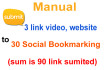 submit 3 your link to 30 Social Bookmarking within 24 hour