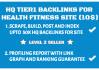 build 50k HQ tier 1 backlinks for health fitness website