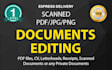 edit PDF or any other type of Document
