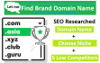 find keywords rich Domain names for a business,brand or blog