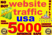 drive genuine targeted 5000 daily website,traffic,visitors