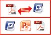 convert PDF to Word or Excel