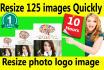 resize image logo photo resize125 images within 10hrs
