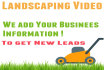 create a personalized landscaping company video