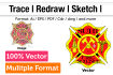 sketch, redraw, trace, convert any image or logo to vector